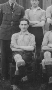Algy, in RAF soccer team
