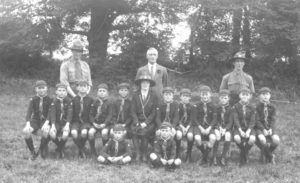 Scouts, 1930 Algy 2nd L in middle row