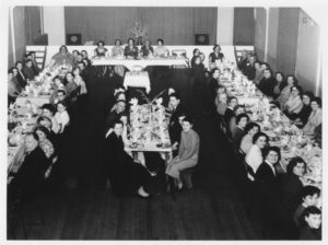 WI Party in Memorial Hall Jan 6th 1957 Enlargement with some names
