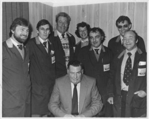 Sales Dept., late 70s Retirement of Eddie Goddard (seated) Chas.Jackson, Fergy Whatling, Eric Christie, John Talbot, Mick Jolly, Mick Patterson, Ron McLagan