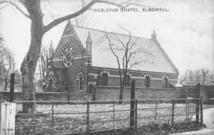 Wesley Chapel, 1905 There used to be a big conker tree there when I was at school.