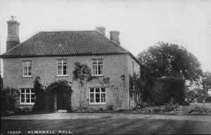 Elmswell Hall, 1914